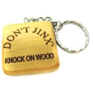 Dont Jinx Knock On Wood Wooden Key Chain 06: Office