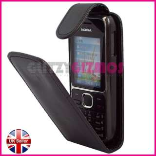 LEATHER FLIP POUCH CASE COVER FOR NOKIA C2 01 C2 01