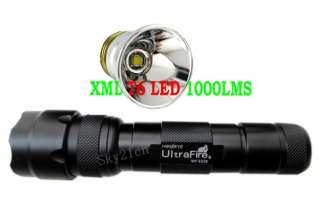 WF 502B CREE XML T6 LED 1000 Lumens Clip Flashlight Torch