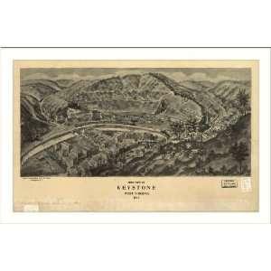 Historic Keystone, West Virginia, c. 1911 (M) Panoramic