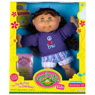 Cabbage Patch Kids Doll   Brunette Hair   Slumbertime Girl   Jakks