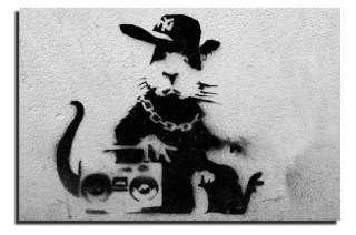 BANKSY GRAFFITI ART RAP RAT DEEP FRAMED WALL ART CANVASPRINT