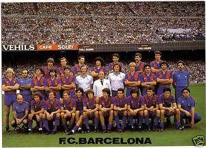Postal BARÇA Plantilla 83/84 FC BARCELONA