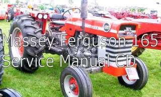 MASSEY FERGUSON 165 FARM TRACTOR SERVICE MANUAL PDF