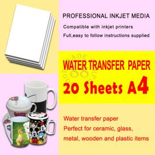20 X Light Water Transfer Paper (with detailed instructions