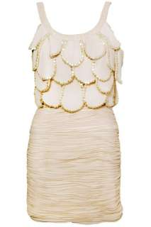 Embellished Scallop Art Deco Flapper Cocktail Dress By Rare Size UK 12