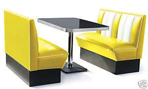 Retro Furniture 50s Diner Kitchen Table Booth Set Yell.