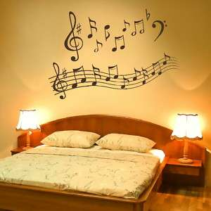 MUSIC NOTES PLAY WRITE WALL MURAL DECOR DECAL giant stencil vinyl