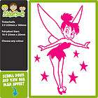 HOT PINK POWERED BY FAIRYDUST tinkerbell car stickers decals