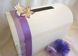 IVORY SILK CHEST POST BOX EXTRA LARGE WEDDING CARD BOX