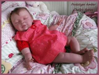 Reborn Vinyl Doll Kit Baby AMBER Peach by Pat Moulton Supplies