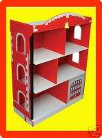 NEW Kids Firehouse Bookcase, Boys Fire Truck Book Shelf