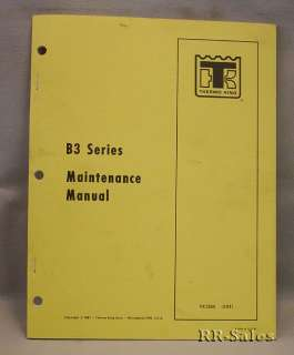 Thermo King Maintenance Manual B3 Series Repair Book