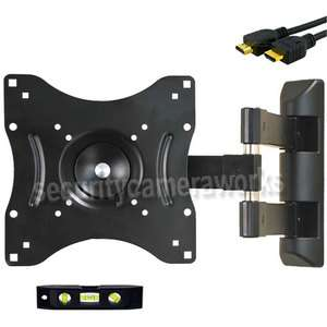 FULL MOTION PLASMA LCD LED TILT TV WALL MOUNT SWIVEL 22 23 24 27 32 37