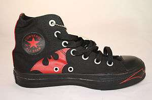 WOMENS Converse Chuck Taylor All Star Batman Black and Red Hi Top