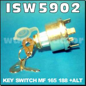 Ignition Key Switch Massey Ferguson 165 175 185 Tractor