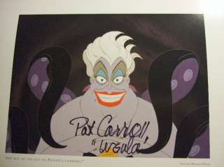 Disney Little Mermaid Hand Signed URSULA PAT CARROLL