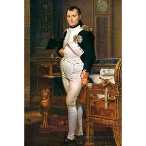Emperor Napoleon Bonaparte in His Study, by Jacques Louis