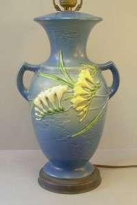 Vintage 14 Roseville Art Pottery Base Delft Blue Freesia Factory