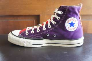 RARE vintage CHUCK TAYLOR CONVERSE ALL STAR sneakers 9.5 US 9 MADE in
