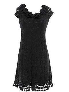 Homepage  Women  Dresses  Yumi Textured lace tunic dress