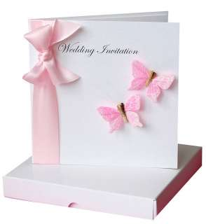 flutter butterfly wedding invitation boxed by made with love designs