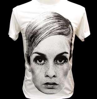 TWIGGY LAWSON 60s Model Icon Rock T Shirt Kate Moss M