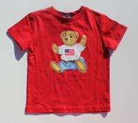 New Ralph Lauren Polo Boys Classic Bear Tee Shirt sz 9m
