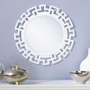 Greek Key Round Mirror
