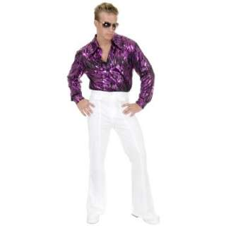 Halloween Costumes White Disco Pants Adult