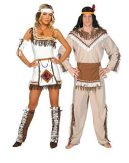 Sexy Indian Chief Adult Couples Costume Item #RM4206 C