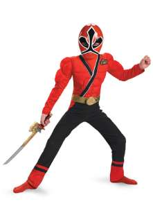 Power Rangers Samurai Red Ranger Samurai Classic Muscle Child Costume