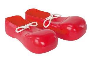 Red Plastic Bozo Shoes   Clown Costume Accessories   15FW90874