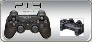 Black 6 Axis DualShock 3 Wireless Bluetooth Controller for PS3 One