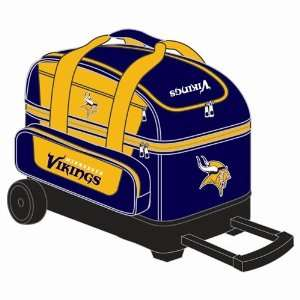 NFL Double Roller Bowling Bag  Minnesota Vikings Sports