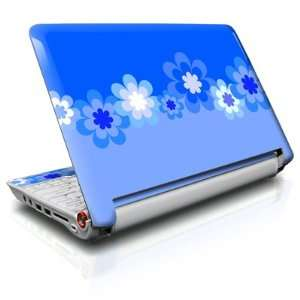 Retro Blue Flowers Design Skin Decal Sticker for Acer