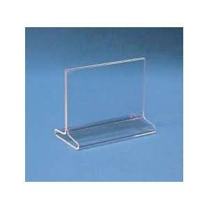 Sign Holder 6x4 Clear Acrylic Table Top Tent Style Top