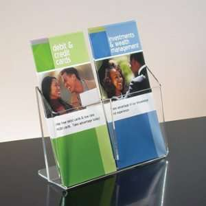 Tiered Clear Acrylic Counter Brochure Holder Office Products