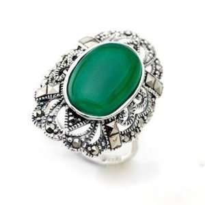 Agate Red or Green or Black Color Ring Jewelry 4.96 G Kitchen
