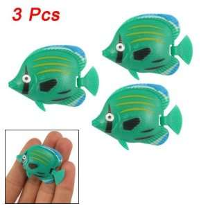 Pcs Cyan Plastic Tropical Fish Ornament for Aquarium: Pet Supplies