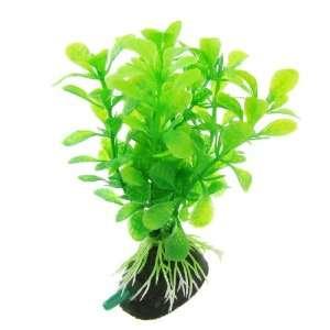 Como Tank Aquarium Air Stone Green Plastic Ludwigia Plant