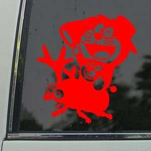 Doraemon Red Decal Beetle Car Truck Bumper Window Red
