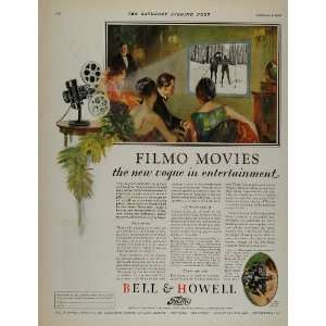 1928 Vintage Ad Bell Howell Filmo Film Projector Camera