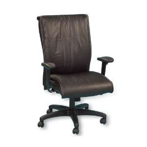 High Back Leather Executive Chair Black Leather