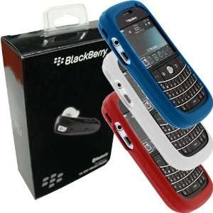 White, Red, Blue Silicone Skin Cover Cases for Blackberry Bold 9000