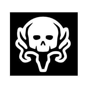 Bone Collector 6inx6in Car Sticker (white by default)