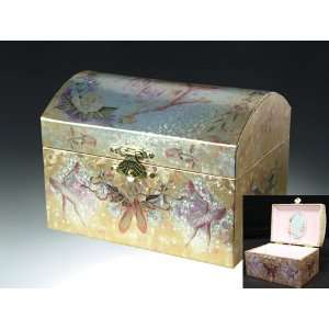 Ballerina Music Jewelry Box   Silver & Gold