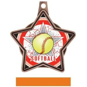 Hasty Awards Custom All  Star Insert Softball Medals BRONZE MEDAL