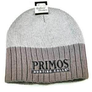 PRIMOS HUNTING CALLS BEANIE KNIT TOQUE HAT CAP GREY