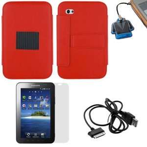 GTMax Red High Quality Premium Leather Case Folio with